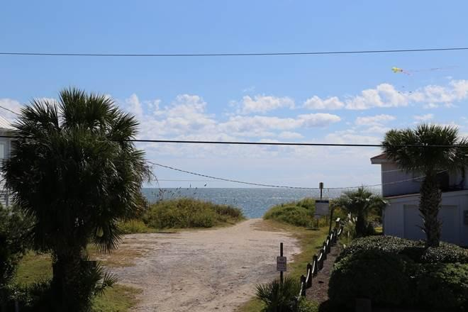 Beach access and view across Palmetto to beach