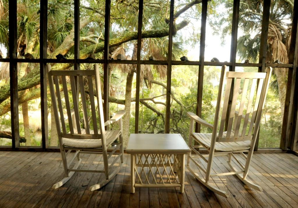 Screen Porch with marsh views