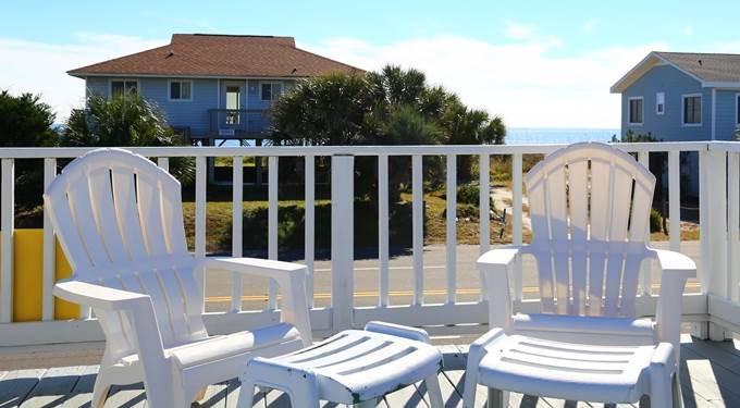 Sundeck with ocean views