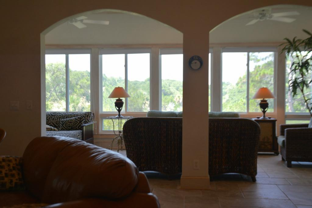 View from Living area out to Glass Porch