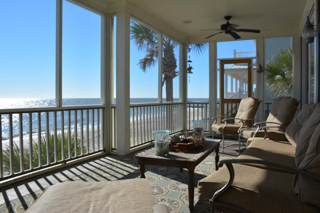 Screen Porch with Ocean Views