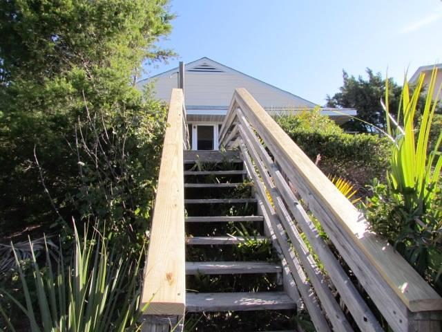 Stairs from beach to house