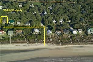 Beach access aerial