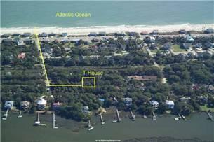 Aerial of Edisto Beach