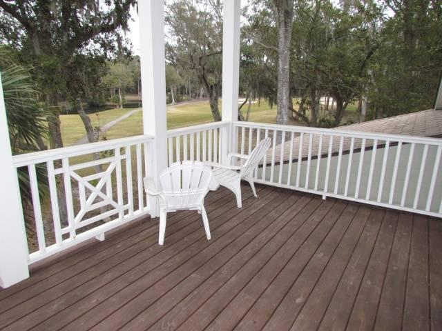 Covered Deck w/golf views