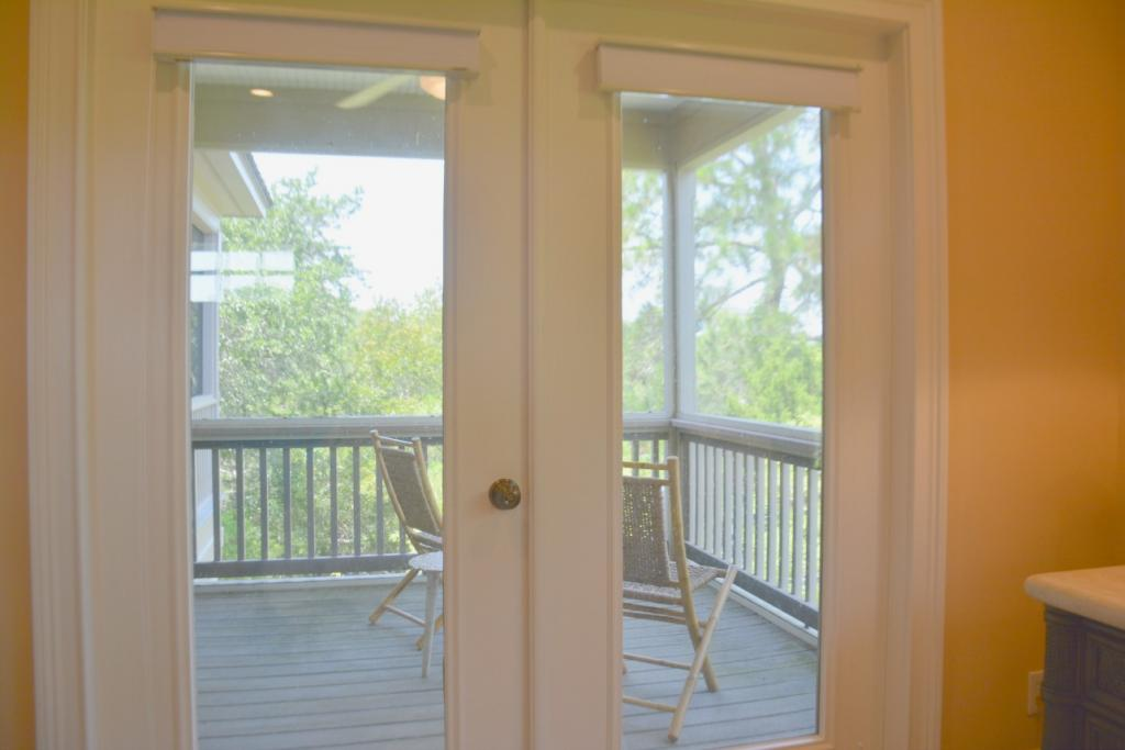French doors to screen porch