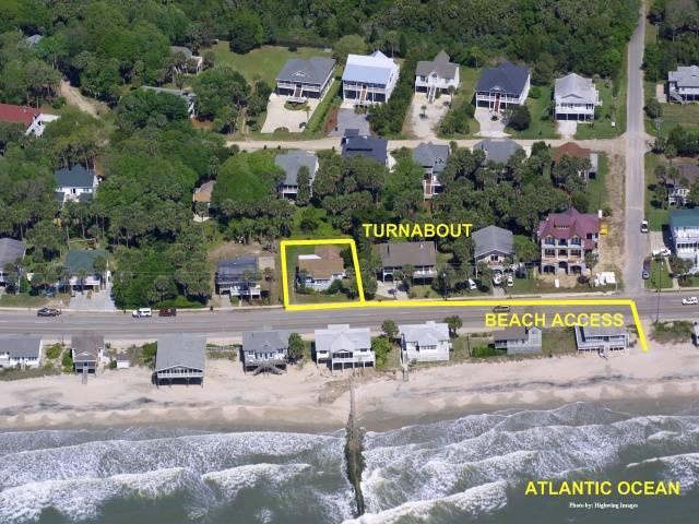 Aerial view showing beach access