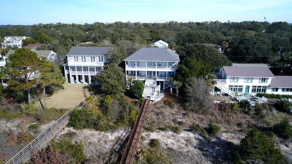 Aerial of beachside of house