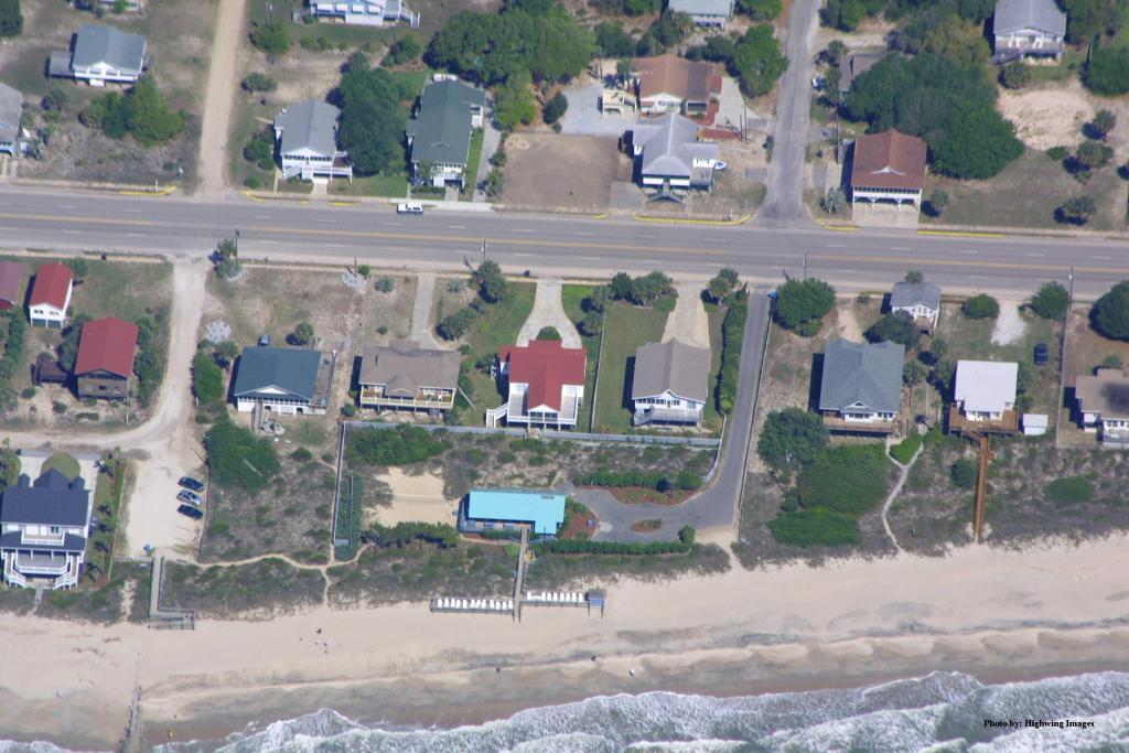 Aerial of Beach Cabana