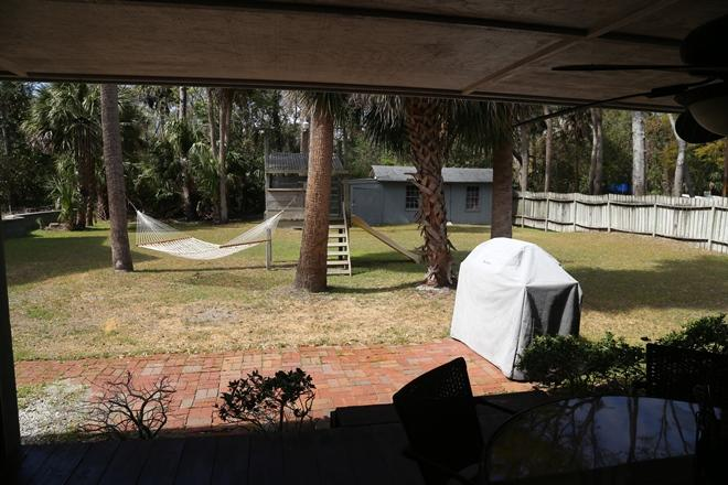View of back yard