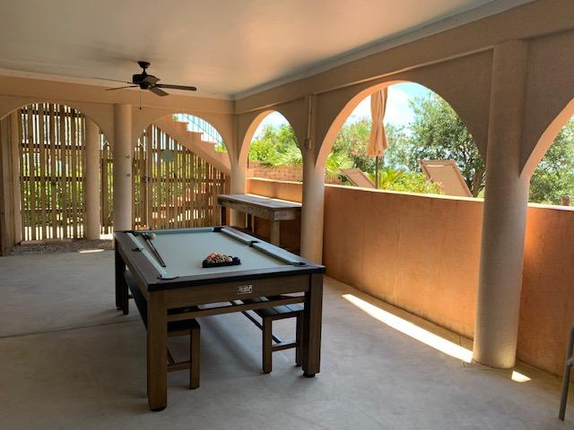 Pool Table Under House