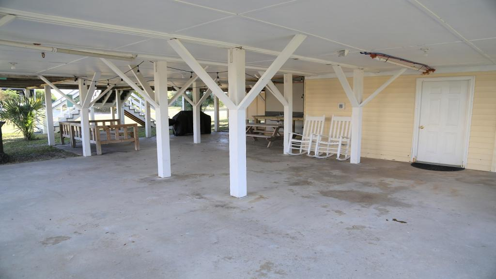 Deck area under house