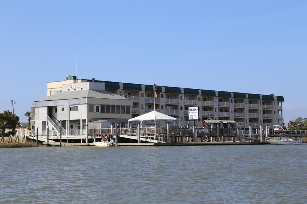 View of Bay Creek Villa and Marina from the Water