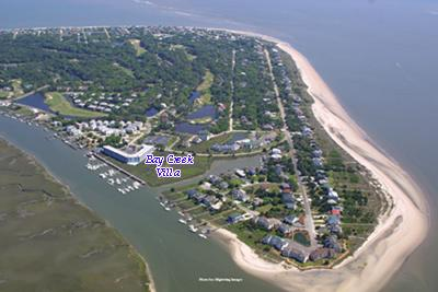 Aerial of Edisto Beach